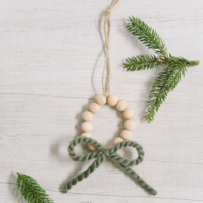 Day 18: How to Make a Wooden Bead Wreath Ornament | The 30 Days of Ornaments Project