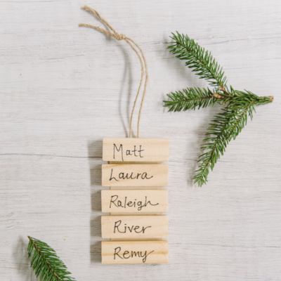 Day 19: How to Make a Family Tree Name Ornament | The 30 Days of Ornaments Project