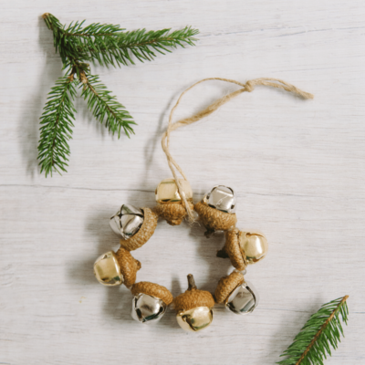 Day 27: How to Make an Acorn Bell Ornament | The 30 Days of Ornaments Project