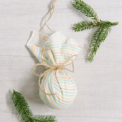Day 29: How to Make a Fabric Covered Ball Ornament | The 30 Days of Ornaments Project