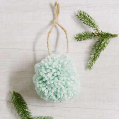 Day 6: How to Make a Yarn Pom Pom Ornament - 30 Days of Ornaments Project