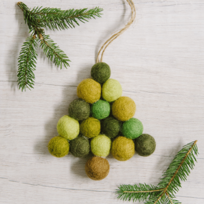 Day 9: How to Make a Felt Ball Christmas Tree Ornament | The 30 Days of Ornaments Project
