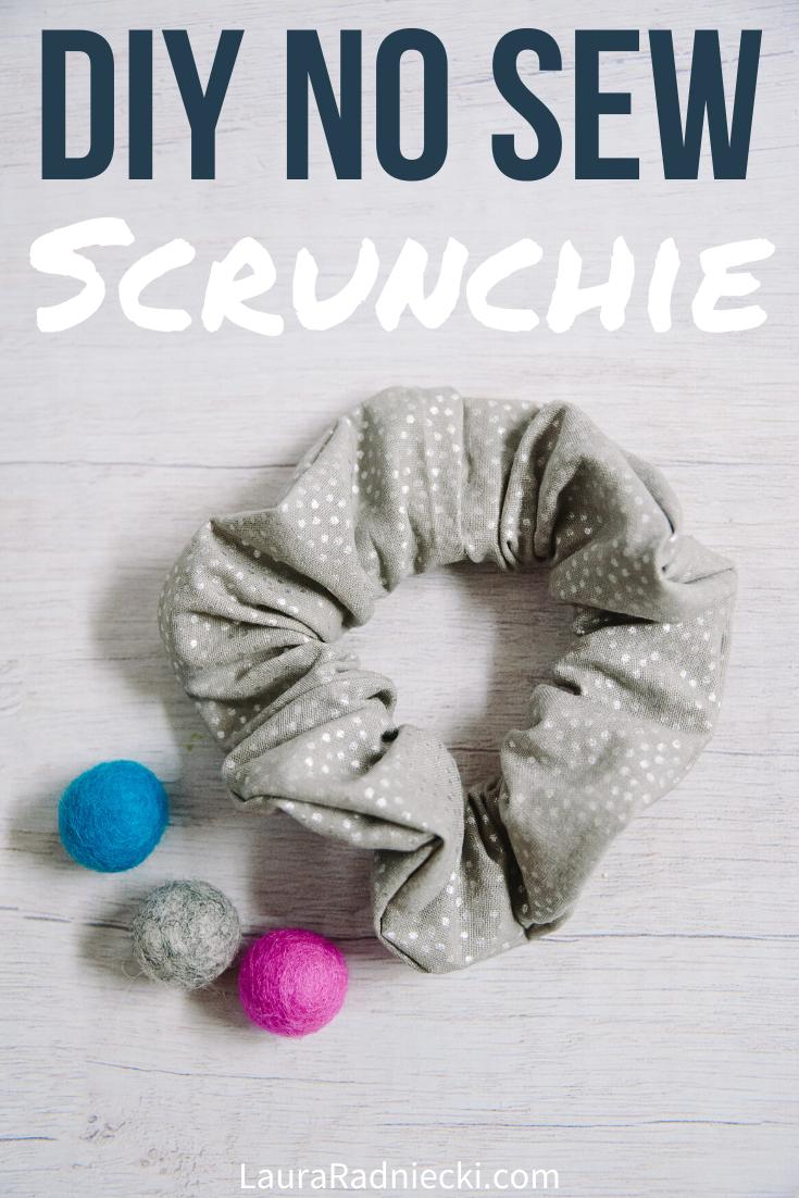 How to Make a DIY No Sew Scrunchie