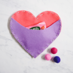 DIY Felt Heart Treat Pouch for Valentine's Day