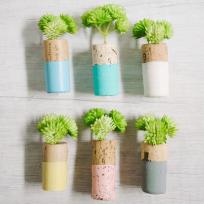 How to Make DIY Wine Cork Planter Magnets