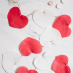 How to Make a Felt Valentine Heart Garland