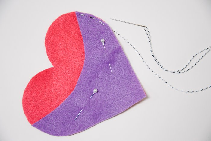DIY Felt Heart Treat Pouch for Valentine's Day | Fall Valentine's Day Crafts