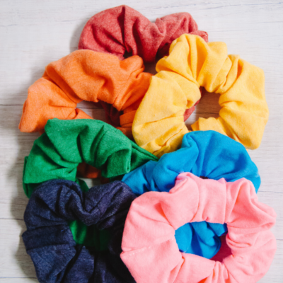 How to Make DIY Scrunchies from a T-shirt