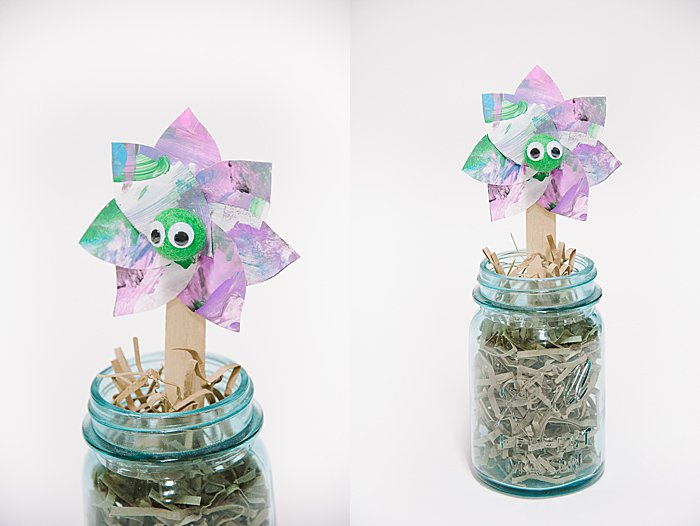 How to Make Easter Flower Buddies with Upcycled Kid Artwork