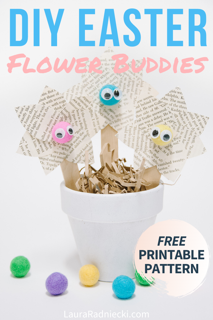 DIY Easter Flower Buddies for Spring _ Spring Craft Ideas for Kids