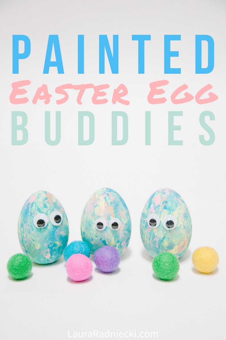 Easy Wooden DIY Painted Easter Eggs _ Easter Crafts for Kids