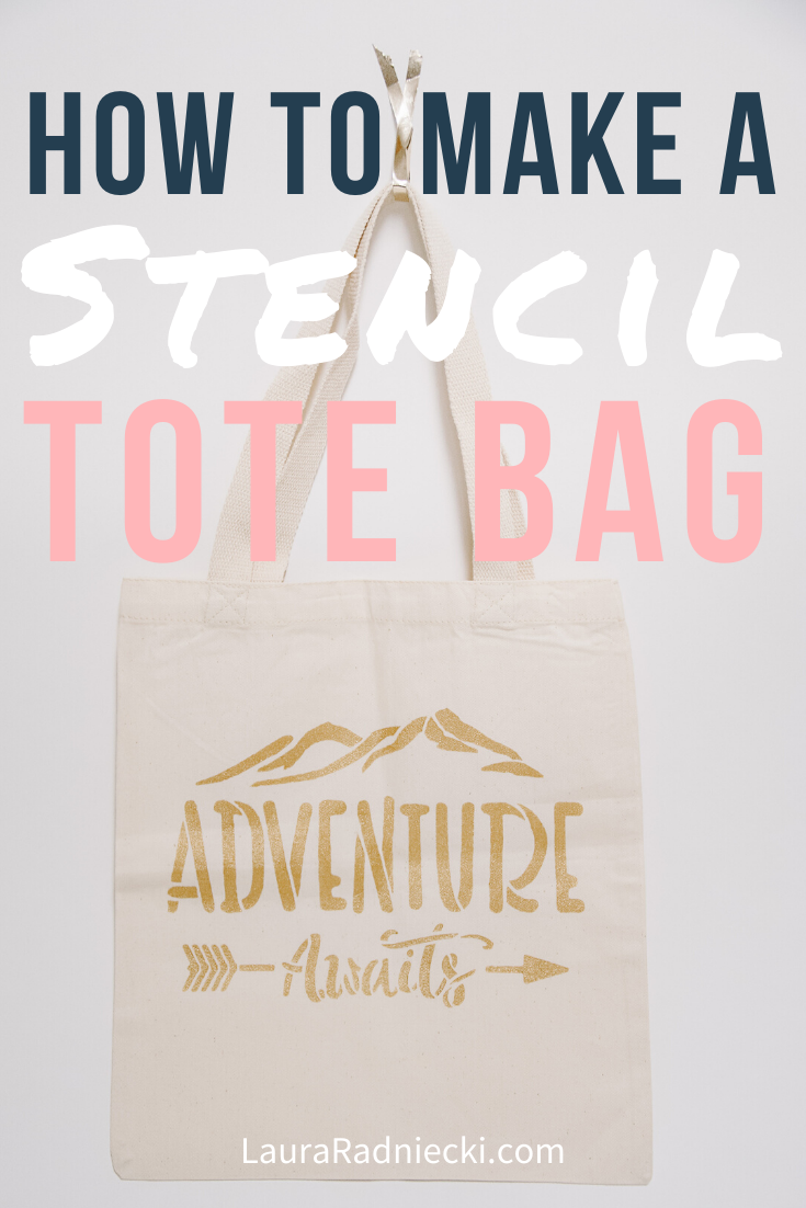 How to Stencil on a Canvas Tote Bag _ A DIY Personalized Tote Tutorial