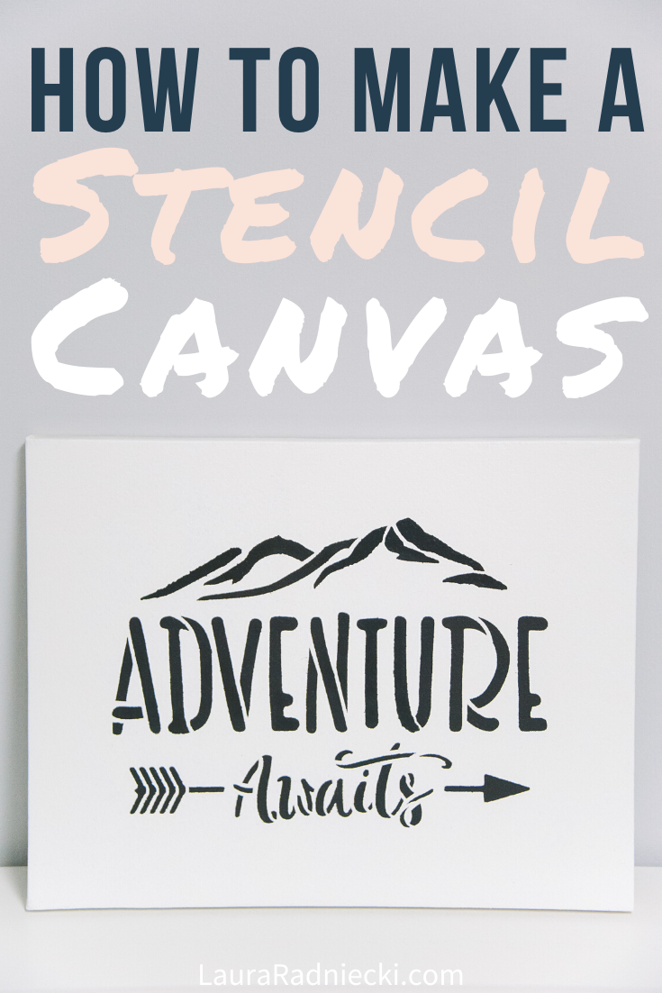 How to Stencil on a Canvas_ Easy DIY Home Decor Ideas and Tutorial