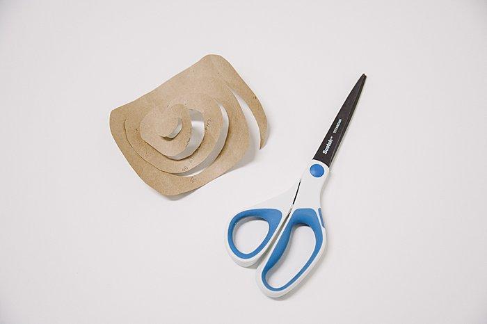 how to make a diy paper rosette flower