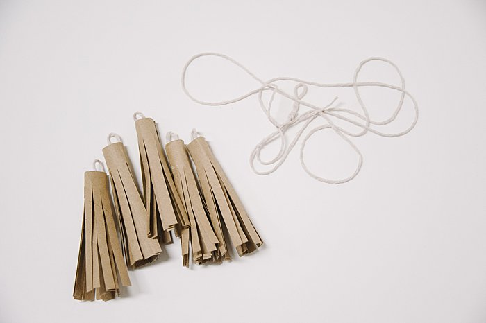 cardboard tassels to make a garland