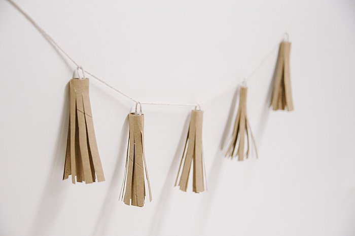 tassels made from toilet paper tubes