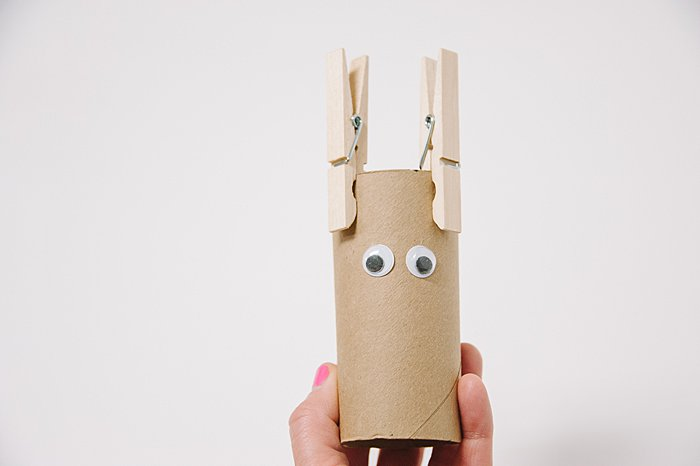 add googly eyes to make DIY Toilet Paper Roll Animals
