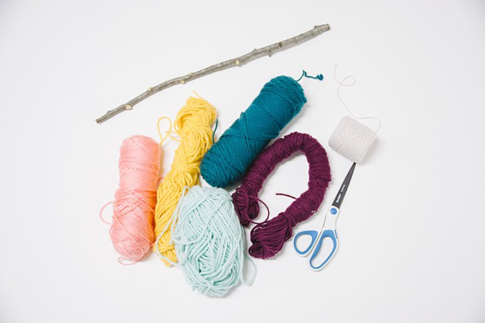 supplies needed to make a diy yarn wall hanging
