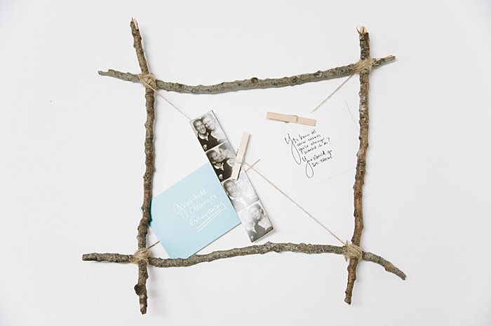 DIY Picture Frame Made with Sticks _ Stick Craft Ideas | diy photo board, memorabilia board