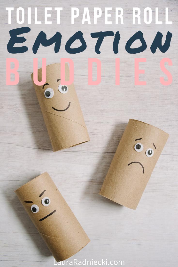 DIY Toilet Paper Roll Emotion Buddies _ Feelings Activities for Kids