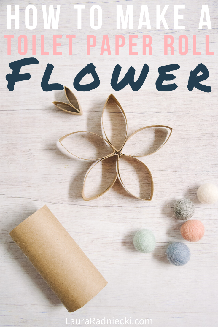 How to Make DIY Paper Flowers Made Out of Toilet Paper Rolls