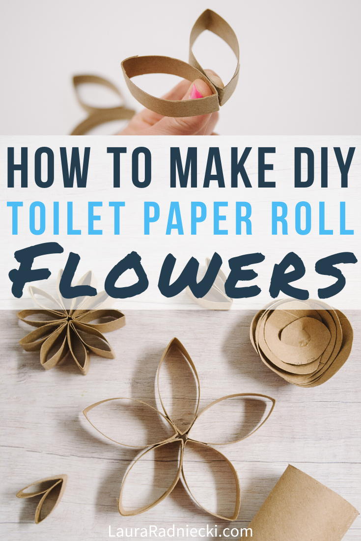 DIY Paper Flowers Made Out of Toilet Paper Rolls