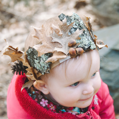 How to Make a DIY Nature Crown for Kids