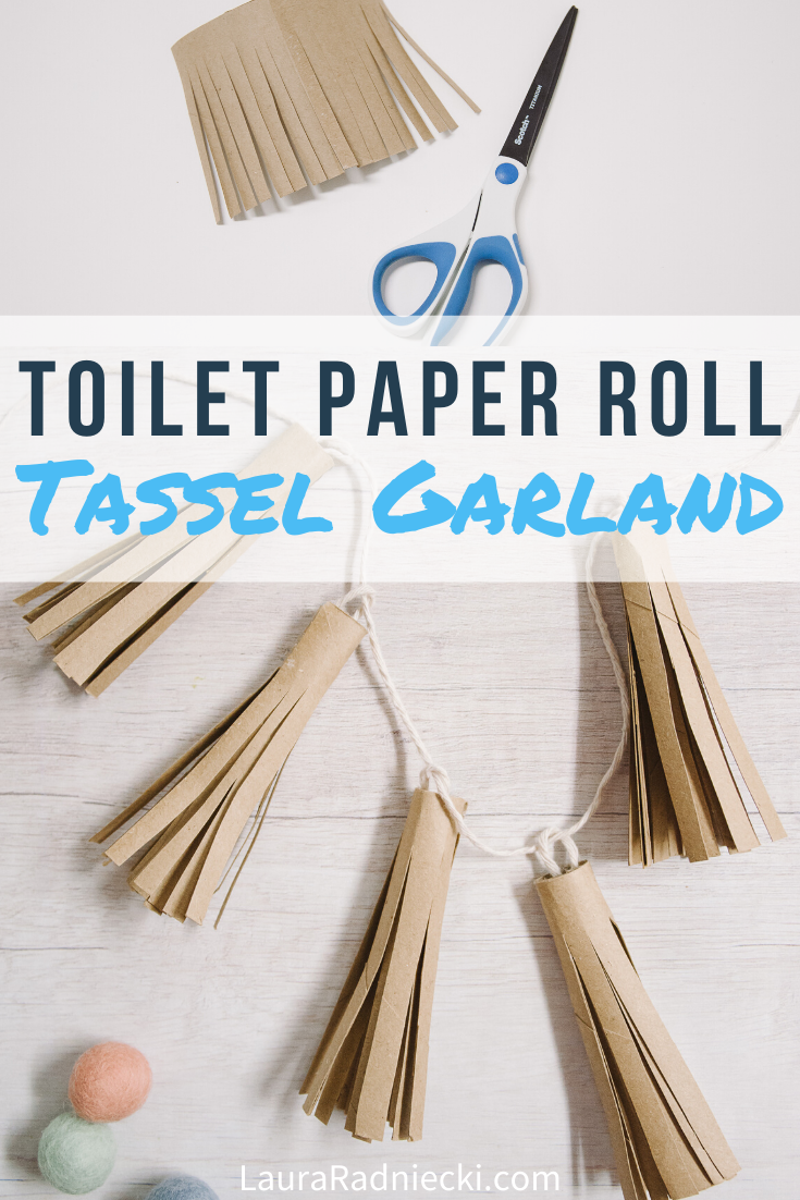 How to Make a Toilet Paper Roll Tassel Garland