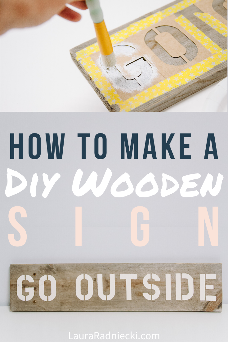 How to Stencil Letters on Wood to Make a DIY Wood Sign