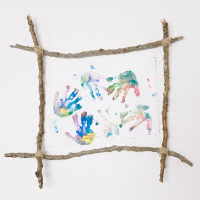 DIY Picture Frame Made with Sticks | Stick Craft Ideas