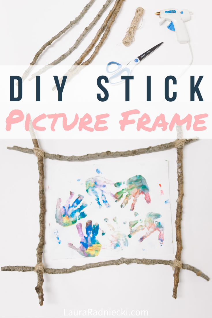 DIY Picture Frame Made with Sticks _ Stick Craft Ideas