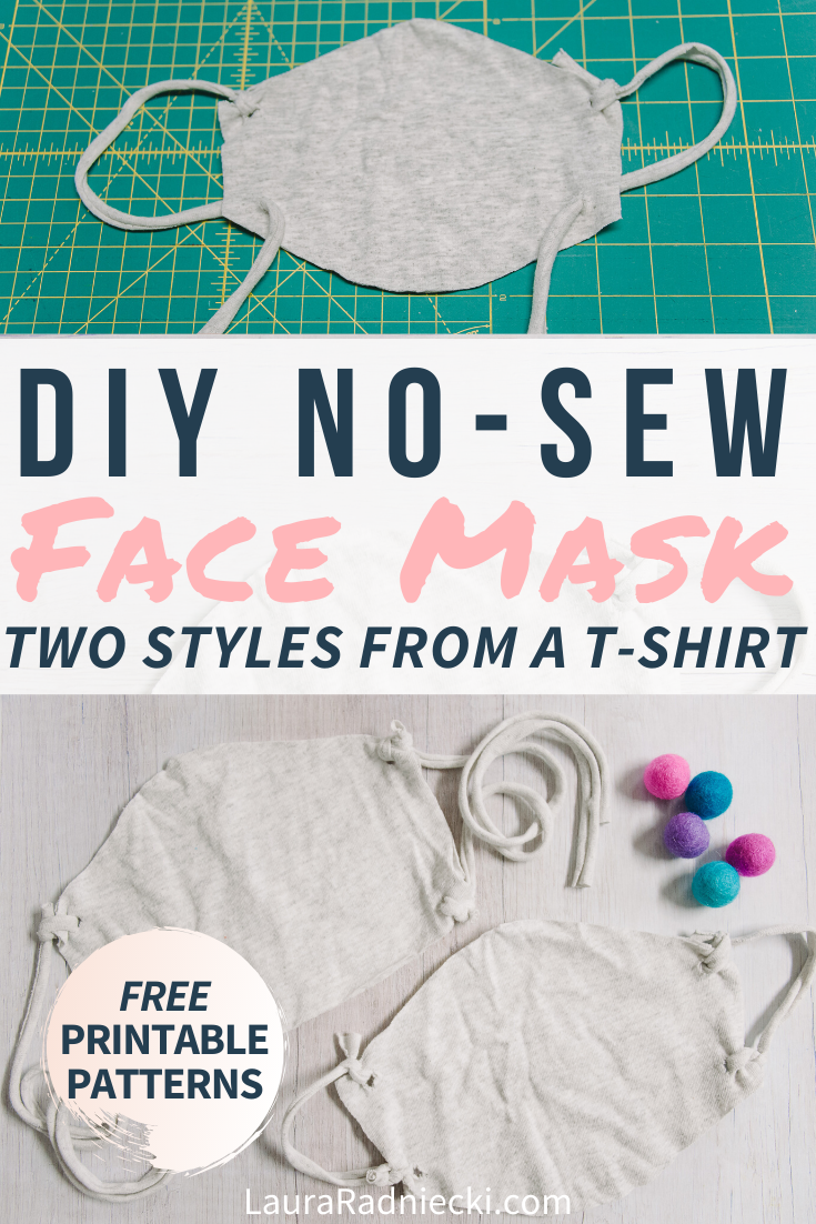 How to Make a DIY No Sew Face Mask from an Old T-Shirt | how to make a mask no sewing