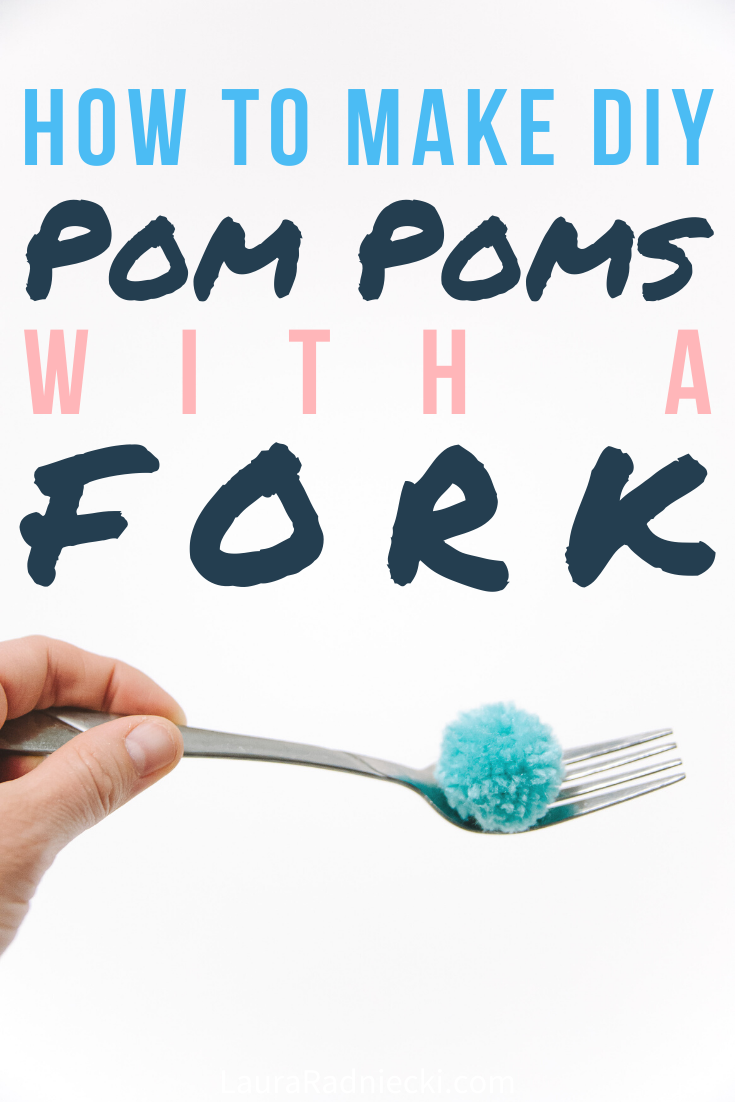 How to Make a Pom Pom with a Fork _ Pom Pom Fork Method Tutorial