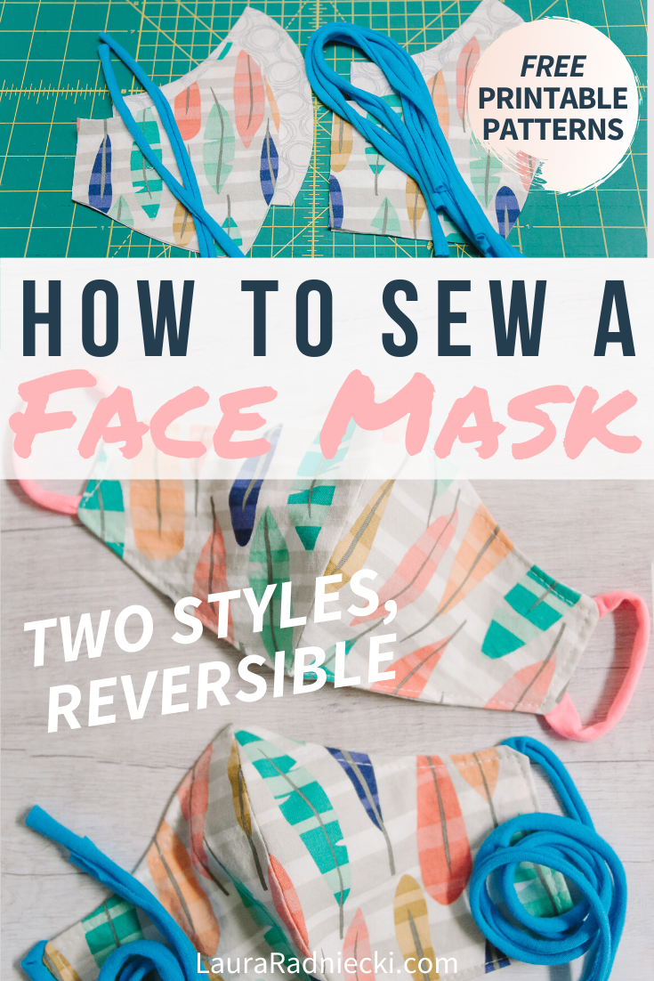 How to Sew a DIY Face Mask with Pattern | Reversible, Two Styles