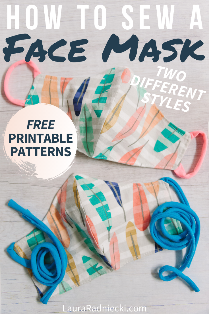 How to Sew a DIY Face Mask with Pattern _ Reversible, Two Styles