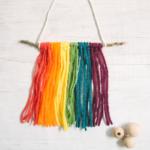 Mini DIY Yarn Wall Hanging Ornament _ Christmas Ornament Ideas