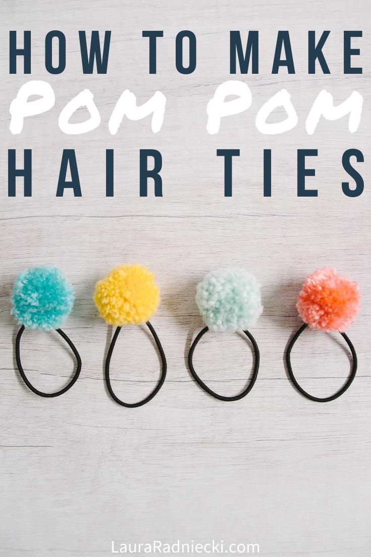 How to Make DIY Pom Pom Ponytail Holders _ Easy Pom Pom Hair Ties