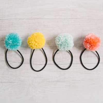 How to Make DIY Pom Pom Ponytail Holders | Easy Pom Pom Hair Ties
