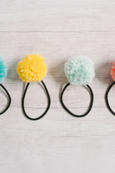 How to Make DIY Pom Pom Ponytail Holders _ Easy Pom Pom Hair Ties