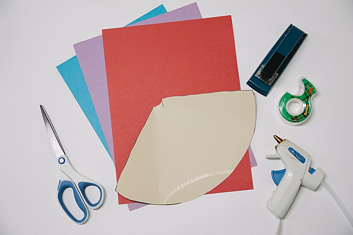 supplies needed to make a cone out of paper