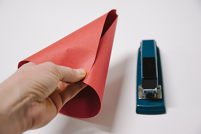 another option is to secure your paper cone with a stapler