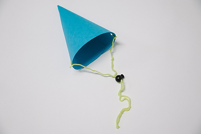 how to make a paper party hat from a paper cone