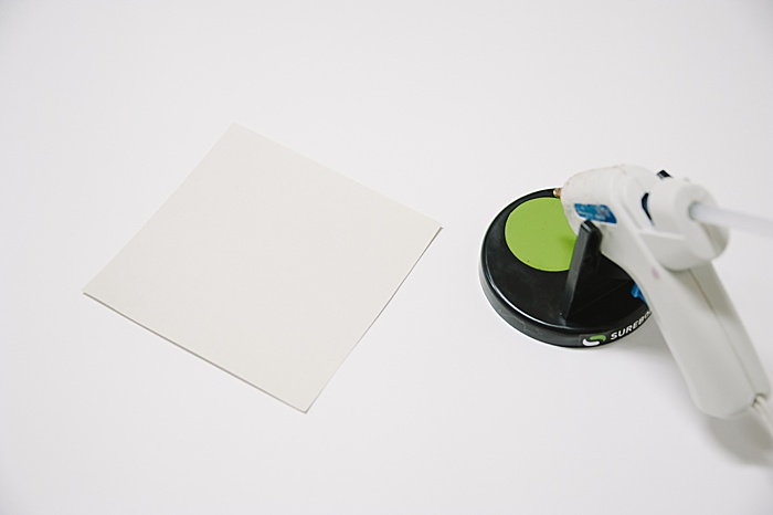 supplies to make an envelope out of paper