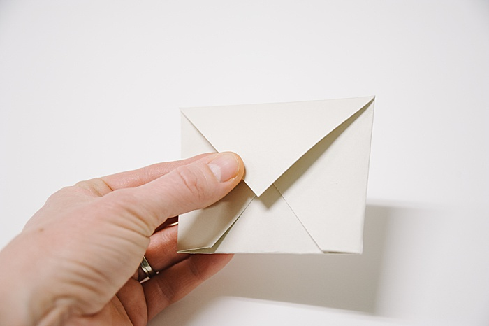 fold top flap down again, and you have made an envelope out of paper