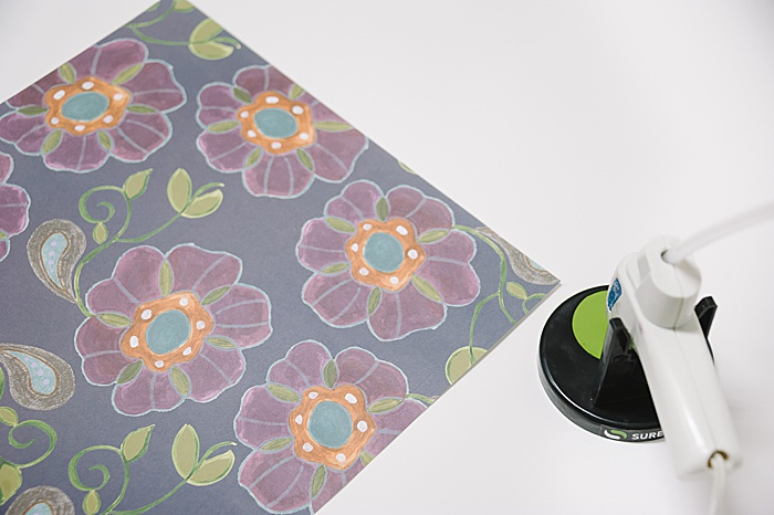 scrapbook paper to make a large envelope out of paper