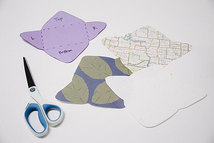 cut out paper using envelope template