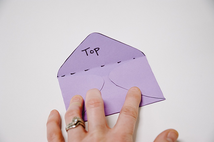 this method of folding a paper envelope looks more messy