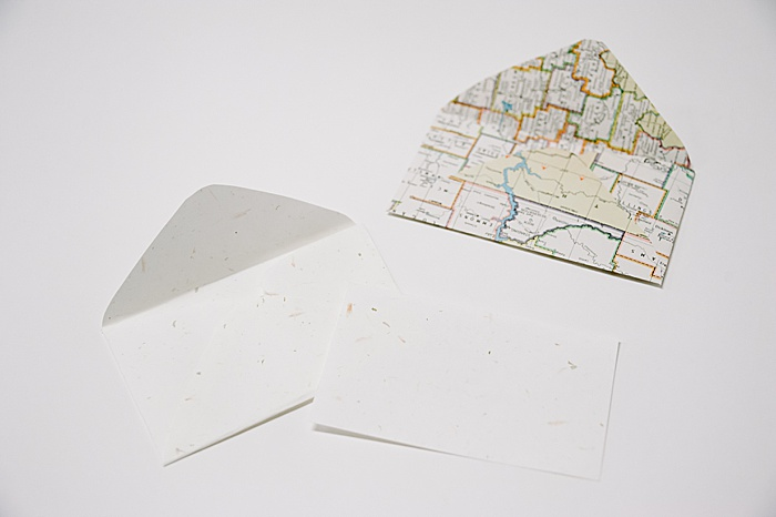 diy paper envelopes made using a free paper envelope template