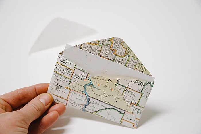 add a small note card and the envelope is ready to use
