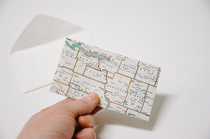 back side of diy paper envelope
